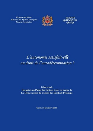L'Autonomie satisfait-elle au droit de l'autodéterminaion?